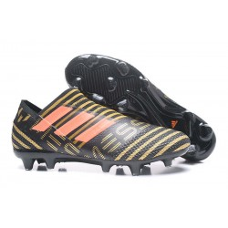 adidas Nemeziz Messi 17+ 360 Agility FG Soccer Boots - Black Gold Orange