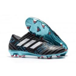 adidas Nemeziz Messi 17+ 360 Agility FG Soccer Boots - Black Blue White