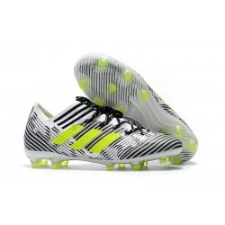 adidas Men's Nemeziz Messi 17.1 FG Soccer Boots Black White Yellow