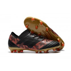 adidas Men's Nemeziz Messi 17.1 FG Soccer Boots Black Gold Red