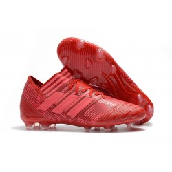 adidas Men's Nemeziz Messi 17.1 FG Soccer Boots Red Pink