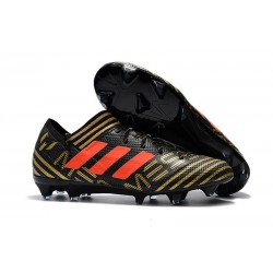 adidas Men's Nemeziz Messi 17.1 FG Soccer Boots Black Gold Orange