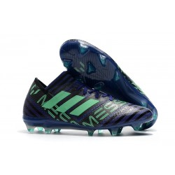 adidas Men's Nemeziz Messi 17.1 FG Soccer Boots Blue Green