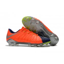 Nike Hypervenom Phantom III FG Soccer Cleats Orange Blue Silver