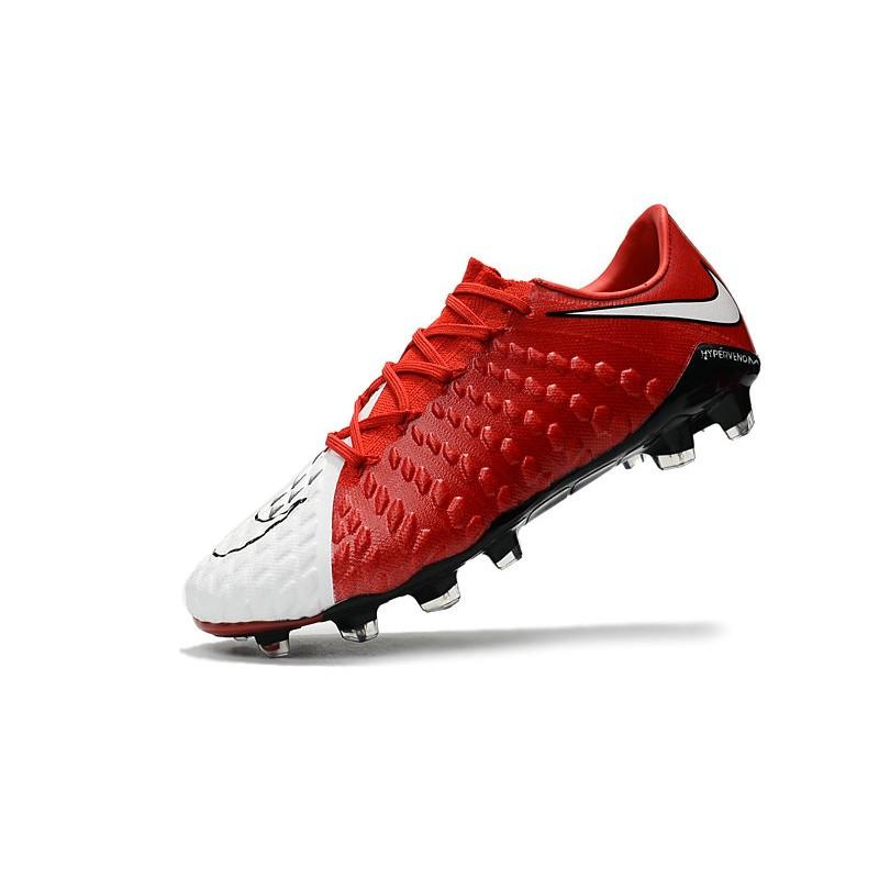more photos 742a3 fff99 Nike Hypervenom Phantom III FG Soccer Cleats Red White