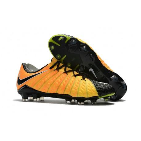 on sale 7fe4f 0f0ba Nike Hypervenom Phantom III FG Soccer Cleats Yellow Black
