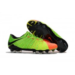 Nike Hypervenom Phantom III FG Soccer Cleats Green Orange Black