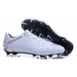 Nike Hypervenom Phantom III FG Soccer Cleats All White