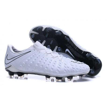 e5a10aa88a81 Nike Hypervenom Phantom III FG Soccer Cleats All White