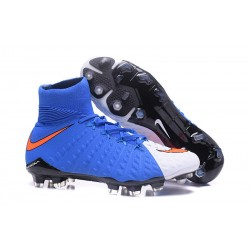 Nike Hypervenom Phantom III DF FG Football Boots - White Blue Red