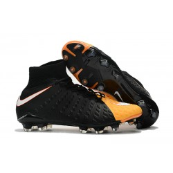 Nike Hypervenom Phantom III DF FG Football Boots - Black Orange
