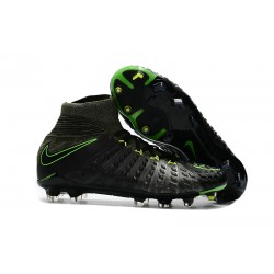 Nike Hypervenom Phantom III DF FG Football Boots - Black Grey