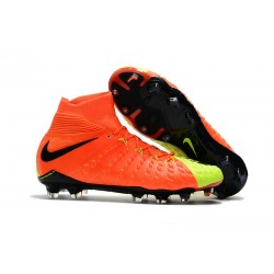Nike Hypervenom Phantom III DF FG Football Boots - Orange Yellow