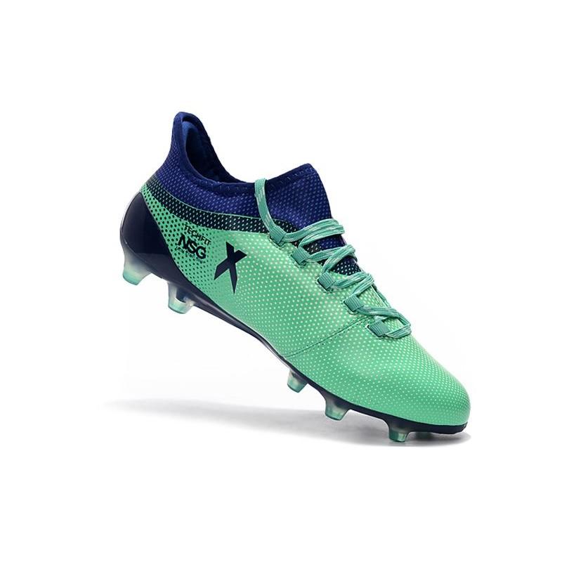 new product c4b2b dd804 adidas X 17.1 Mens FG Football Shoes - Green Black