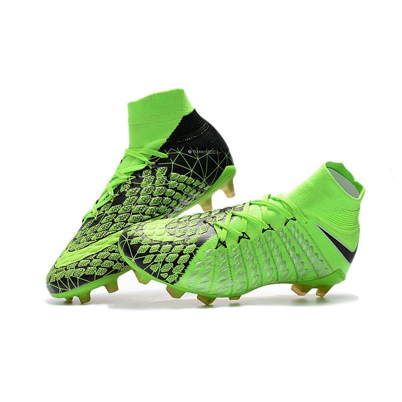 official photos ec5ee 947bc Nike EA Sports Hypervenom Phantom 3 Dynamic Fit FG Cleats - EA Sports Green  Black