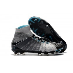 Nike Hypervenom Phantom 3 Dynamic Fit FG Cleats - Black Gray