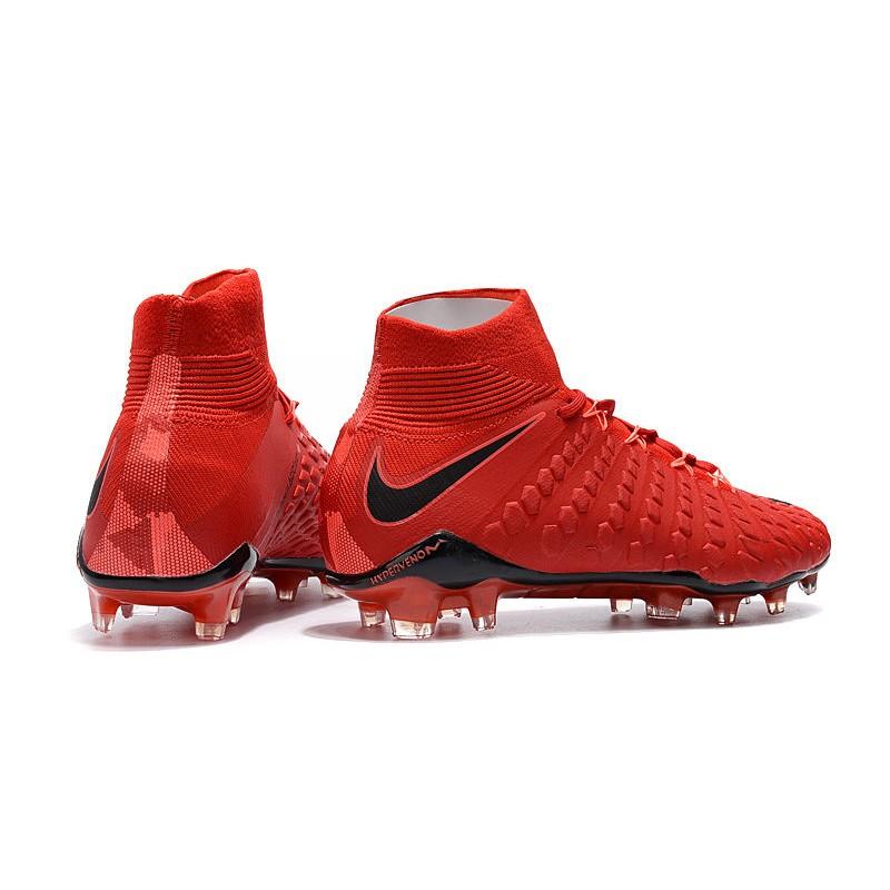competitive price 7cbe2 b15c9 Nike Hypervenom Phantom 3 Dynamic Fit FG Cleats - Red Black