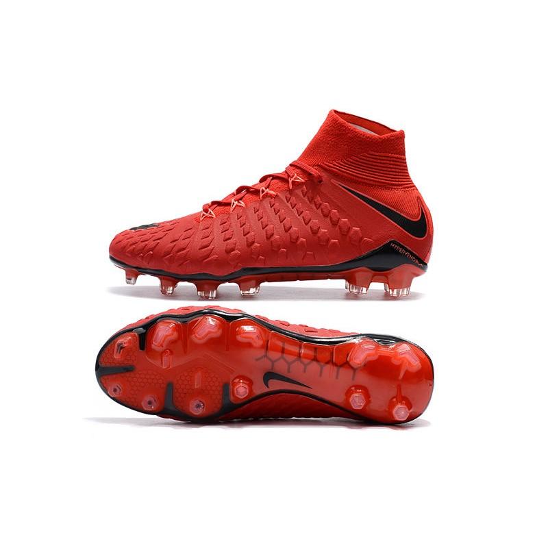 competitive price ef7bb 72a19 Nike Hypervenom Phantom 3 Dynamic Fit FG Cleats - Red Black