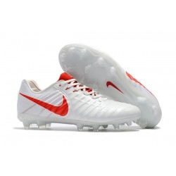 Nike Tiempo Legend VII Men's Leather Boots White Red