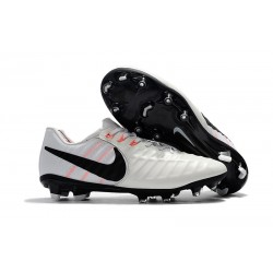 Nike Tiempo Legend VII Men's Leather Boots White Black