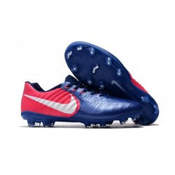 Nike Tiempo Legend VII Men's Leather Boots Blue Pink