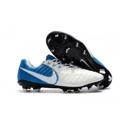 Nike Tiempo Legend VII Men's Leather Boots White Blue