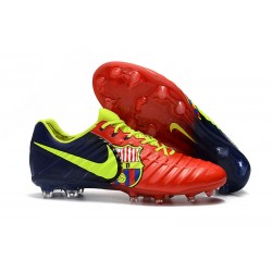 Nike Tiempo Legend VII Men's Leather Boots Barcelona Red