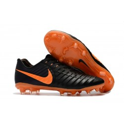 Nike Tiempo Legend VII Men's Leather Boots Black Orange