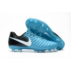 Nike Tiempo Legend VII Men's Leather Boots Blue Black