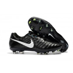 Nike Tiempo Legend VII Men's Leather Boots Black White