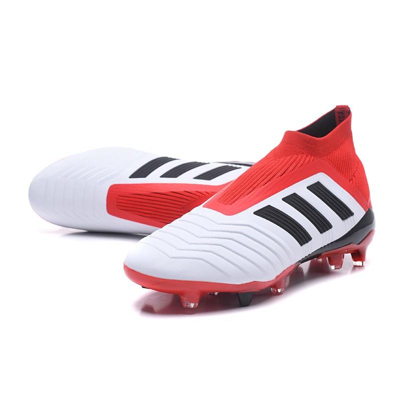 9dfecb586f2 adidas Men s Predator 18+ FG Soccer Cleats - White Red Black