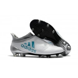 adidas Men's X 17+ PURESPEED FG Soccer Cleats - White Blue