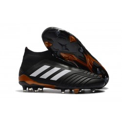 adidas Men's Predator 18+ FG Soccer Cleats - Black White