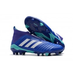 adidas Men's Predator 18+ FG Soccer Cleats - Blue White