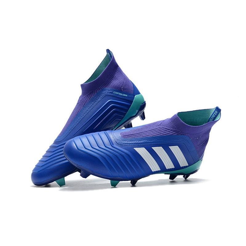 pretty nice e1ea4 b2472 adidas Men's Predator 18+ FG Soccer Cleats - Blue White