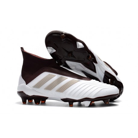 quality design 1fdc5 c27ee adidas Men s Predator 18+ FG Soccer Cleats - White Brown