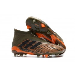 adidas Men's Predator 18+ FG Soccer Cleats - Olive Black Orange