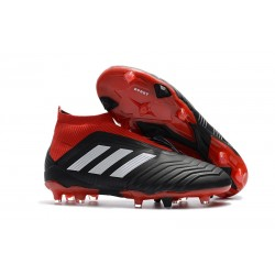 adidas Men's Predator 18+ FG Soccer Cleats - Black Red White