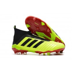 adidas Men's Predator 18+ FG Soccer Cleats - Yellow Black
