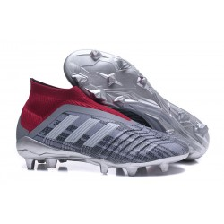 Pogba adidas Men's Predator 18+ FG Soccer Cleats - Gray Red