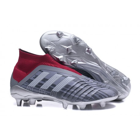 07a7d038abf8 Pogba adidas Men s Predator 18+ FG Soccer Cleats - Gray Red