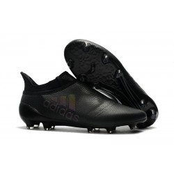 adidas Men's X 17+ PURESPEED FG Soccer Cleats - All Black