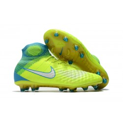 Nike Magista Obra II FG Men's Soccer Cleats - Yellow Green