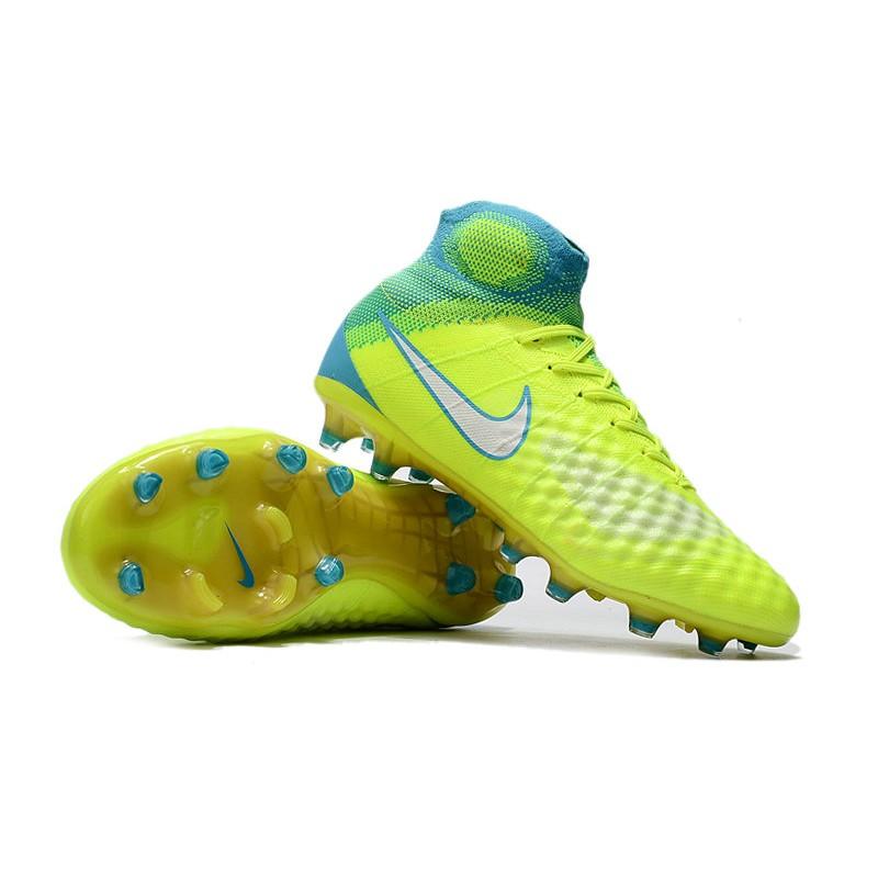 grande vente 7a1b1 9be1e Nike Magista Obra II FG Men's Soccer Cleats - Yellow Green