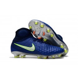 Nike Magista Obra II FG Men's Soccer Cleats - Blue Green