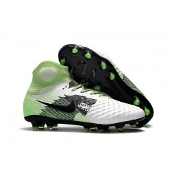 Nike Magista Obra II FG Men's Soccer Cleats - White Black Green