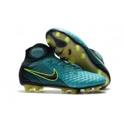 Nike Magista Obra II FG Men's Soccer Cleats - Blue Yellow