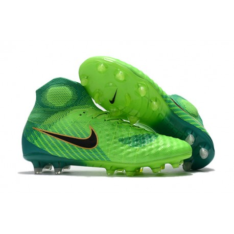 outlet store 93179 8bc07 Nike Magista Obra II FG Men s Soccer Cleats - Green Blue