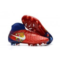 Nike New Magista Obra 2 FG Football Boots Barcelona Red
