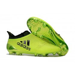 adidas Men's X 17+ PURESPEED FG Soccer Cleats - Yellow Black